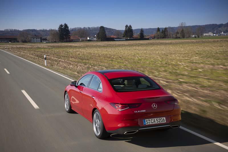Mercedes CLA Coupé 2019, foto trasera