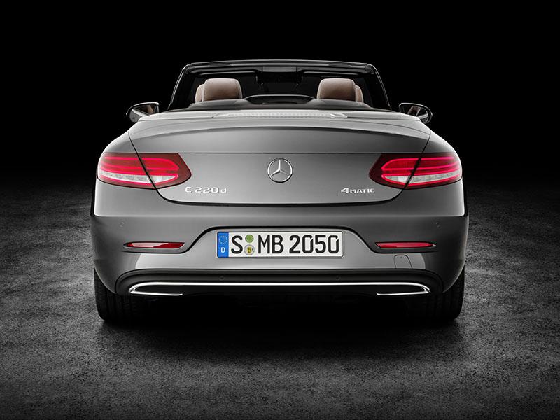 Foto Trasera Mercedes Clase C Cabrio Descapotable 2016
