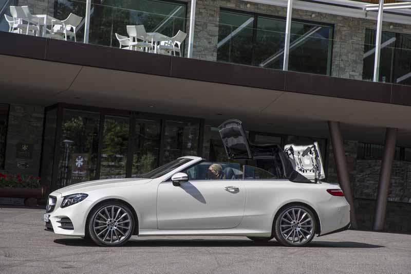 Mercedes Clase E Cabrio 2017, foto del techo