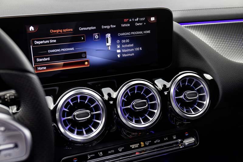 Mercedes-Benz EQA, foto pantalla salpicadero