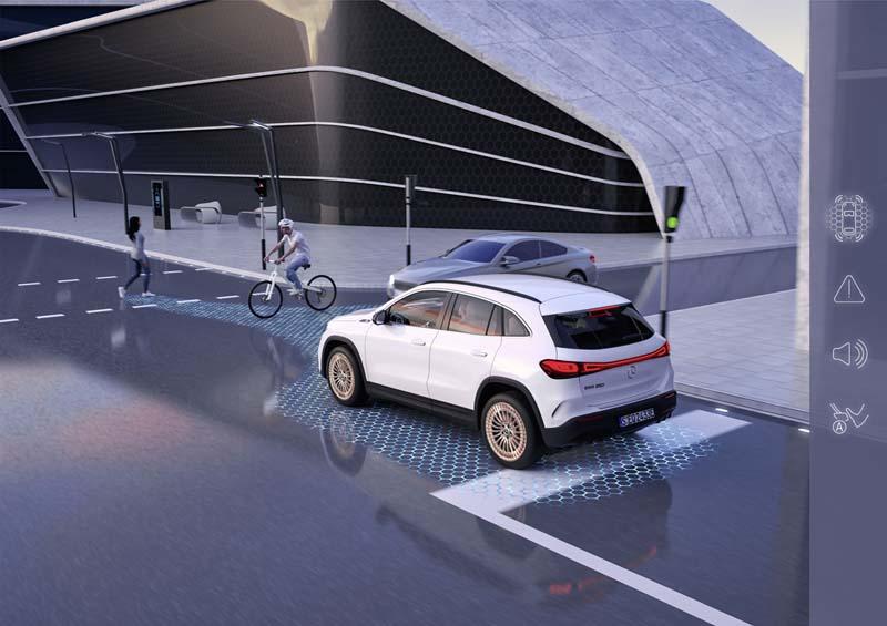 Mercedes-Benz EQA, foto seguridad