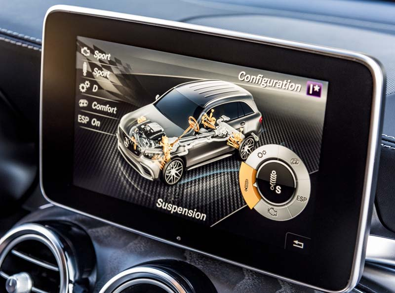 Mercedes AMG GLC 63 S 4Matic+, foto detalle suspensión