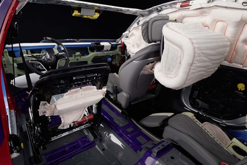 Mercedes-Benz Clase S 2020, foto airbag frontal trasero