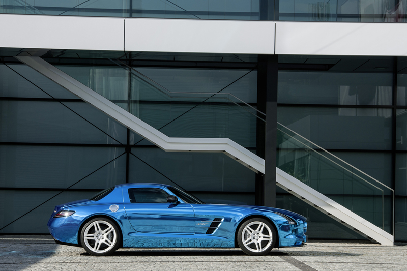Foto Lateral Mercedes Sls Amg Electric Drive Cupe 2012