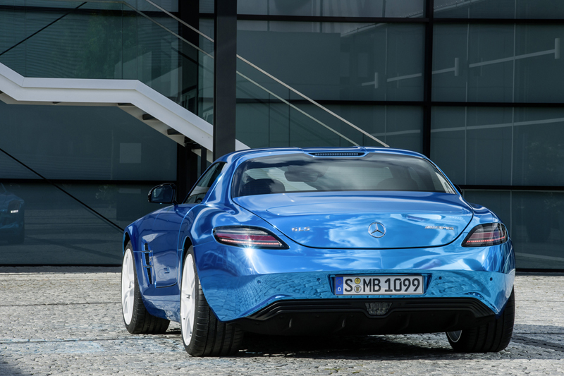 Foto Trasera Mercedes Sls Amg Electric Drive Cupe 2012