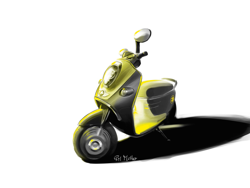 Foto Scooter Electrica Mini Mini Mini Scooter Electrica 2010