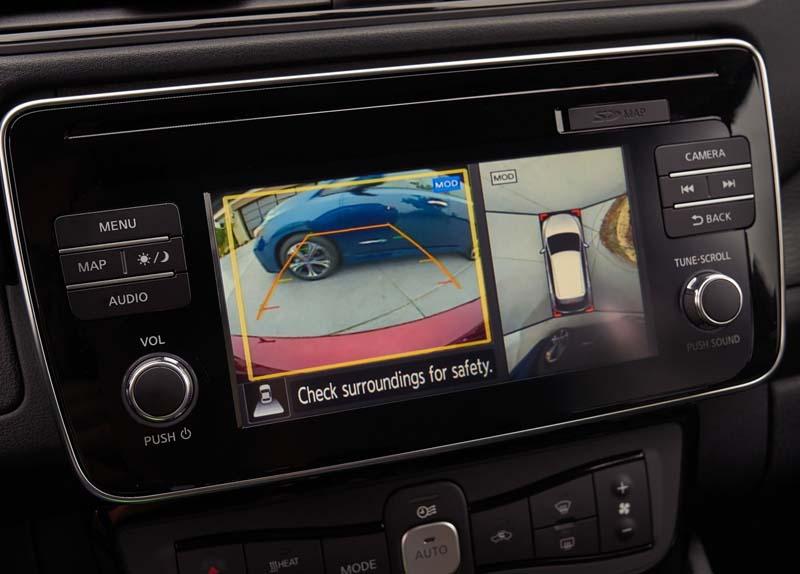Nissan Leaf 40 KWh 2018, foto pantalla táctil