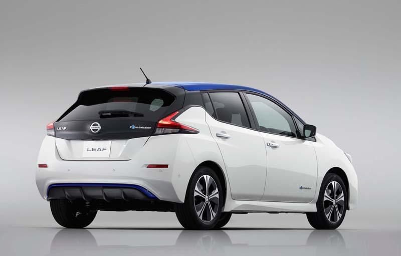 Nissan Leaf 40 KWh 2018, foto trasera
