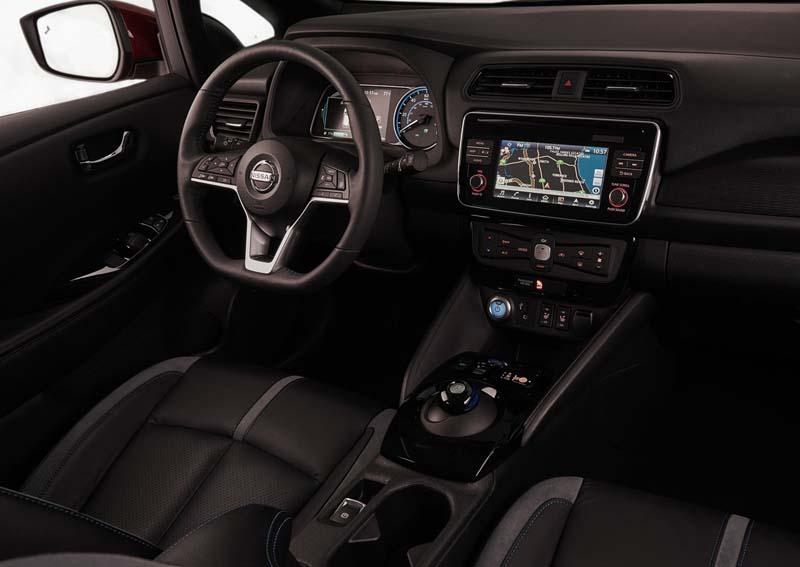 Nissan Leaf 40 KWh 2018, foto salpicadero
