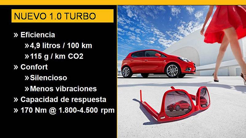 Motor 1.0 Turbo de 115 CV en Opel Corsa