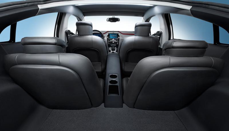 Interiores del Opel Ampera