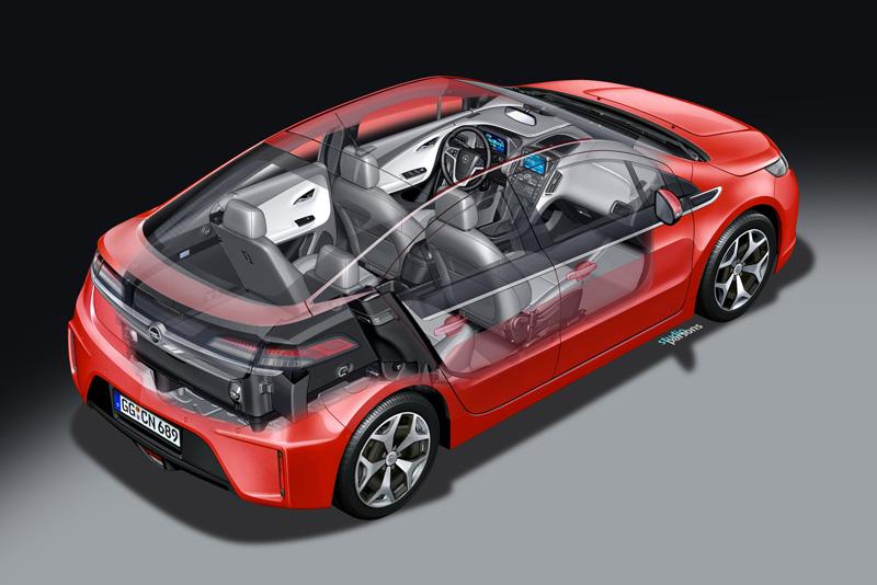 Foto Tecnicas01 Opel Ampera Sedan 2010