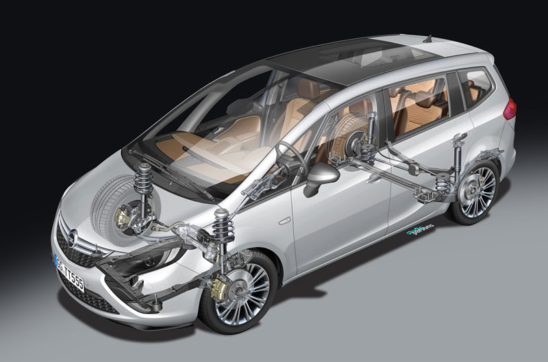 Foto Tecnicas Opel Zafira Tourer Monovolumen 2011