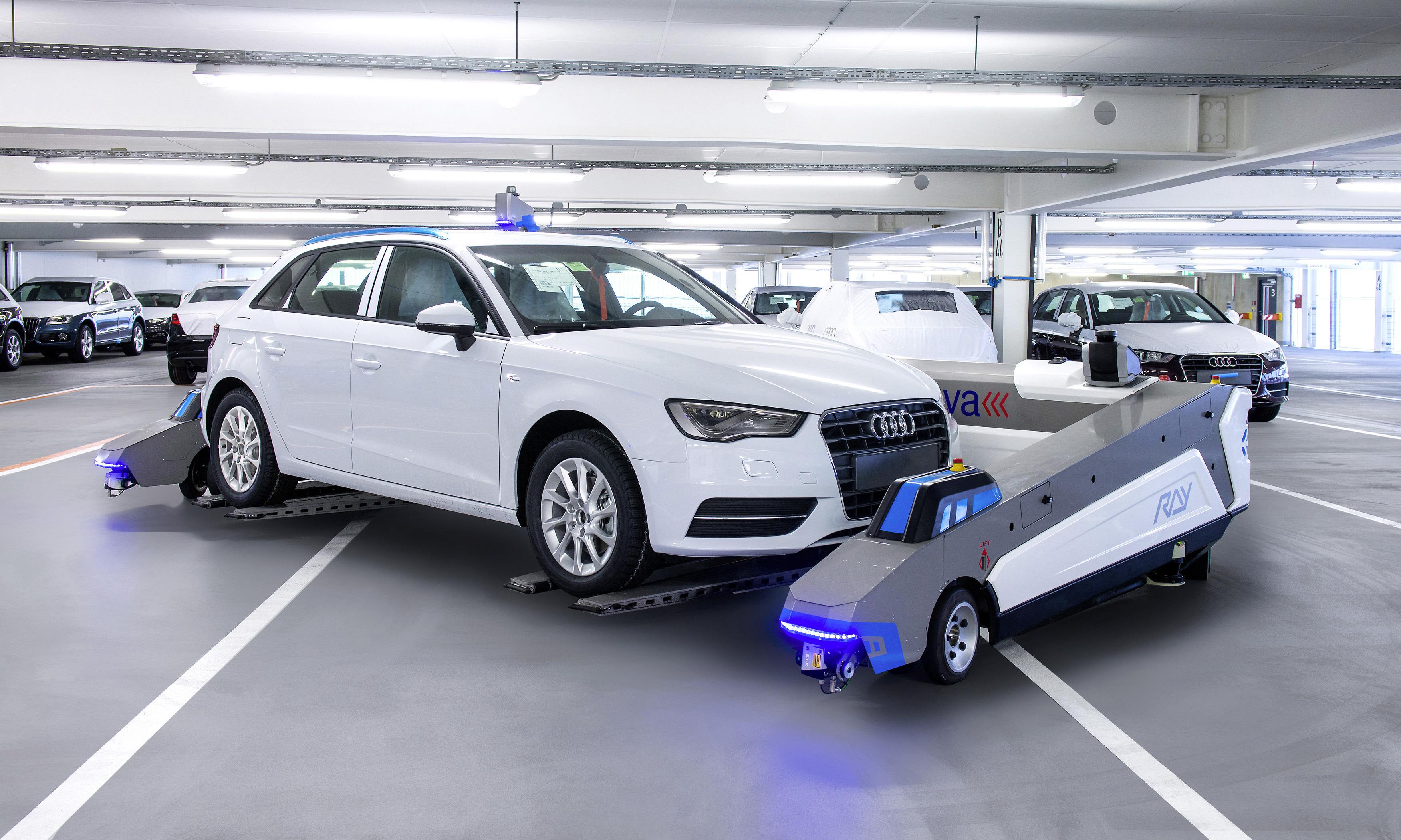 Robots que mueven coches