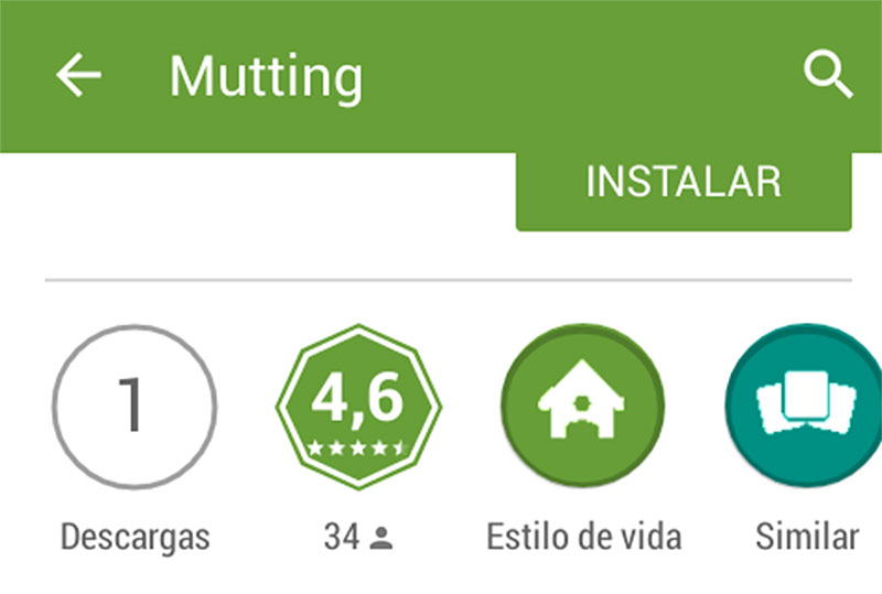 Mutting aplicacion movil