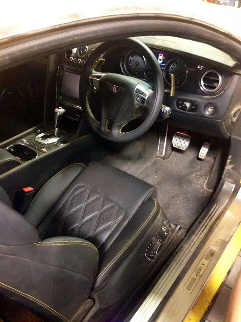 Bentley Continental cupe dañado en Top Gear