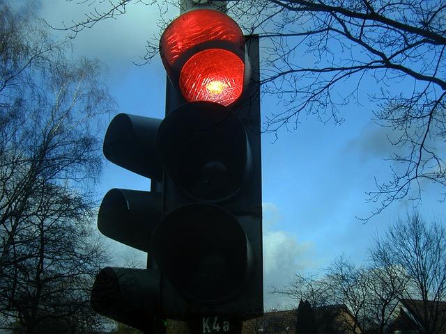 semáforo en rojo