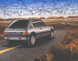Foto Trasera Peugeot 205-gti Dos Volumenes 1984