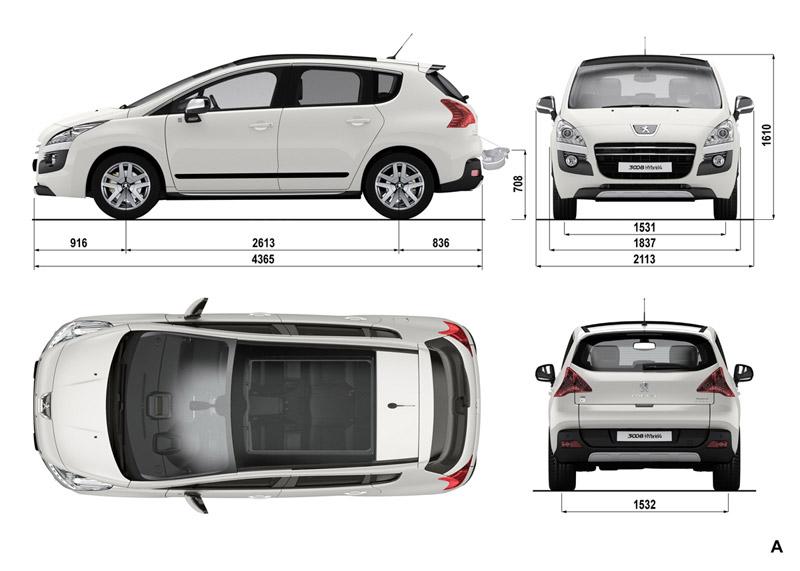Foto Tecnicas Peugeot 3008 Hybrid4 Monovolumen 2011