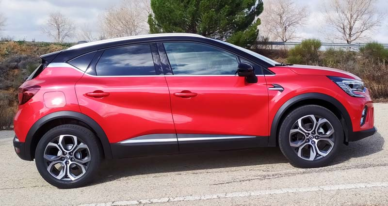 Renault Captur 2020, foto lateral