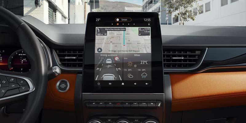 Renault Captur 2020, foto pantalla salpicadero