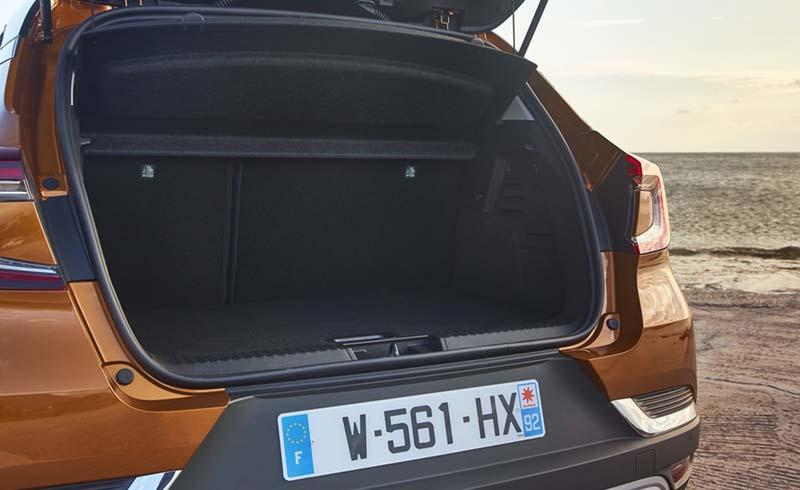 Renault Captur 2020, foto maletero