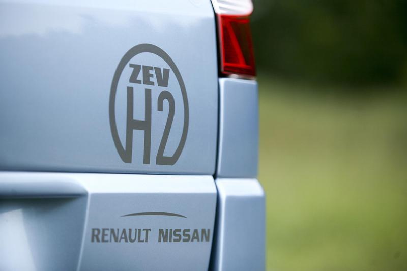 Foto Megane hidrogeno logo Renault Ecologia