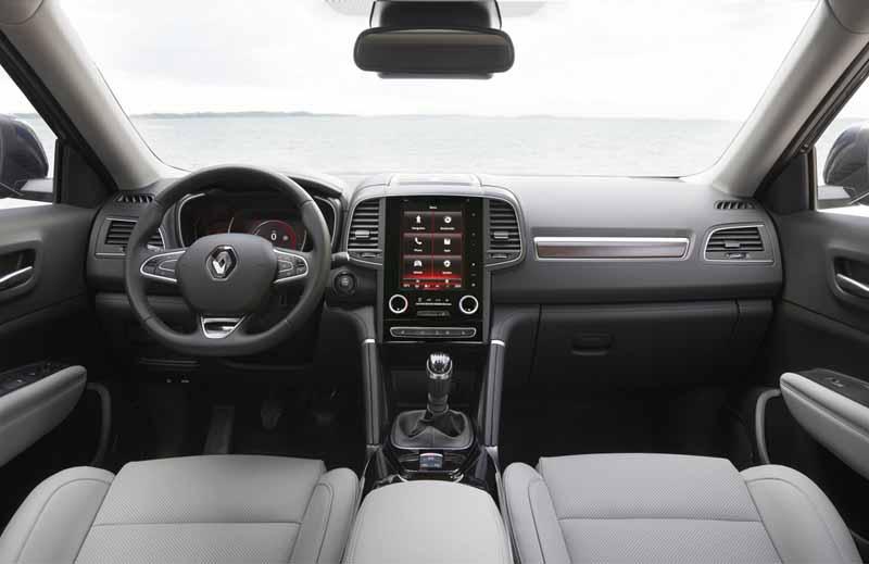 Renault Koleos 2017, foto salpicadero