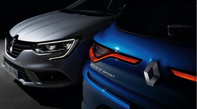 Firma lumínica de Renault Megane delante y detrás