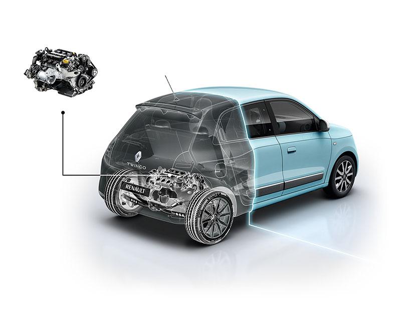 Renault Twingo 2014 ubicación motor