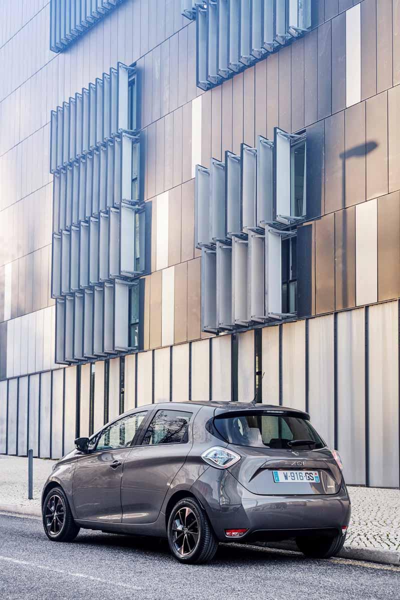 Renault ZOE 2017, vista trasera