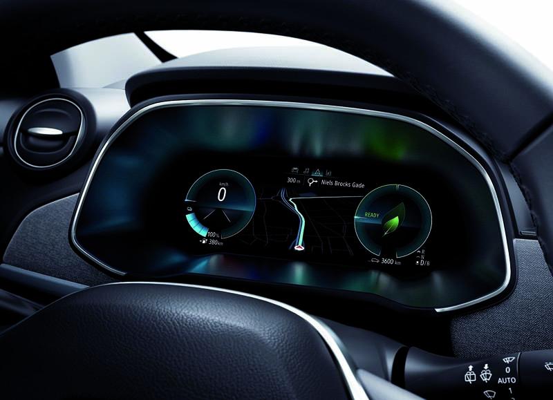 Renault ZOE 2019,foto cuadro de mandos