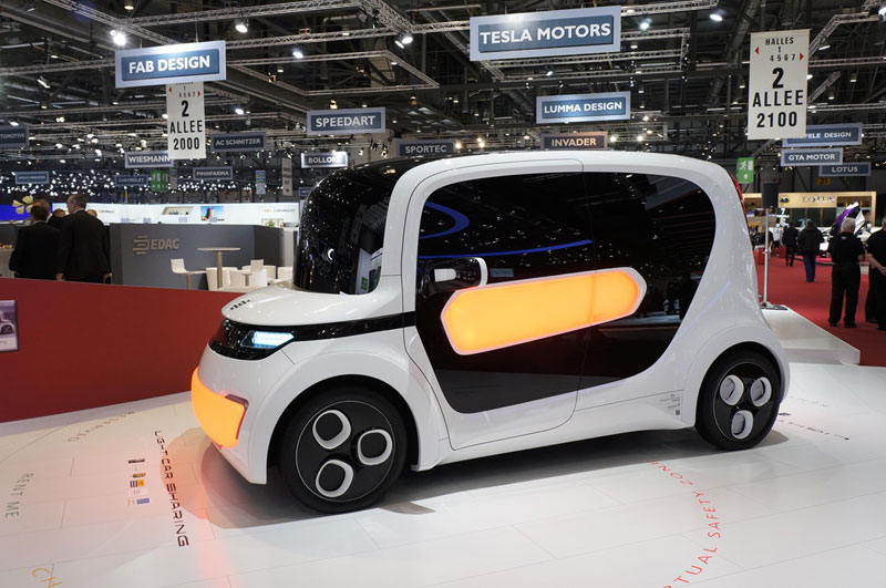 Foto Tesla Light Car Salones Salon Ginebra 2012