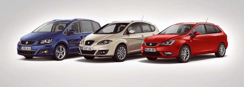SEAT Ibiza ST, Altea, Altea XL y Alhambra 4KIDS