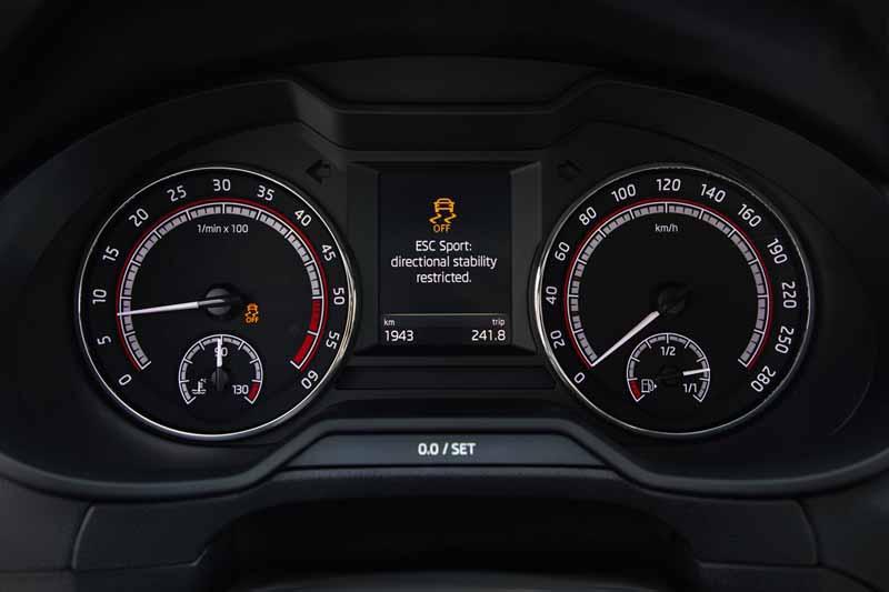 Skoda Octavia Combi RS 2.0 TSI DSG, foto cuadro de mandos