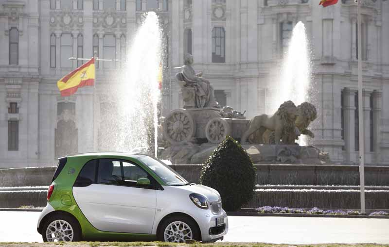 Smart Electricdrive en Plaza Cibeles
