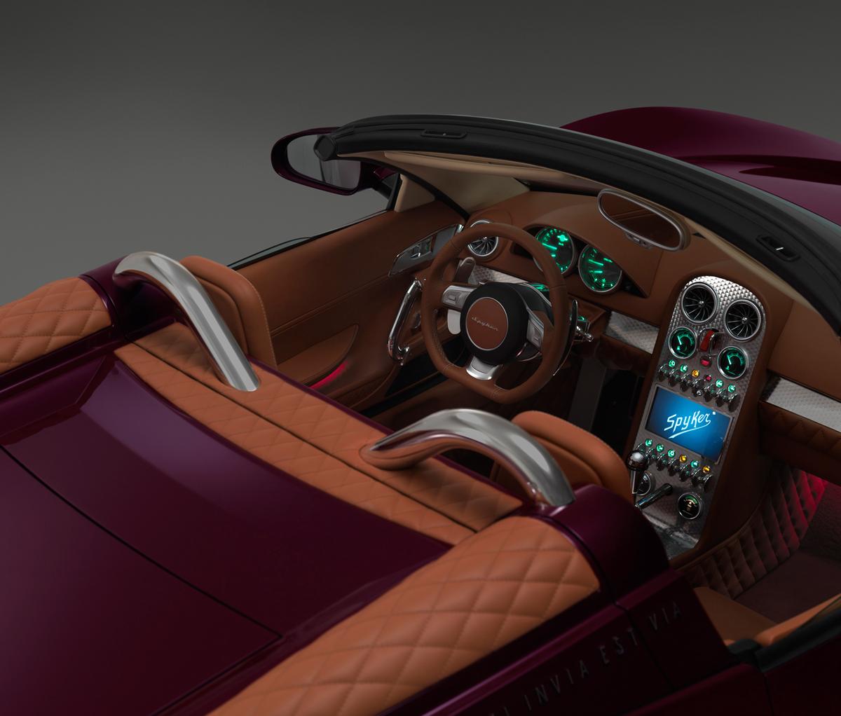Fondo Pantalla Spyker B6-venator-spyder-concept Descapotable 2013 Interiores (6)