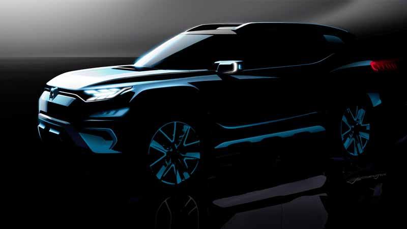 SsangYong XAVL concept 2017, vista delantera