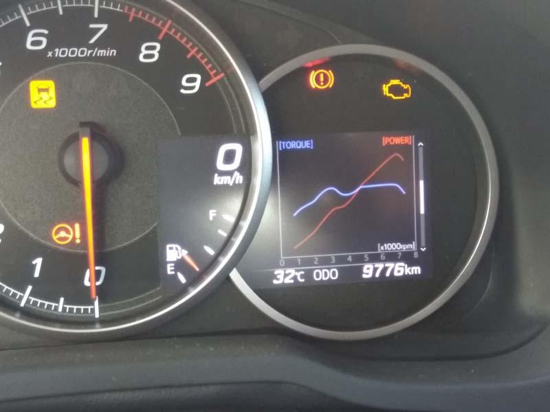 Subaru BRZ 2017, foto cuadro de mandos