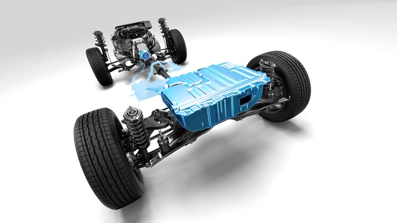 Subaru Forester EcoHYBRID 2020, foto batería de iones de litio