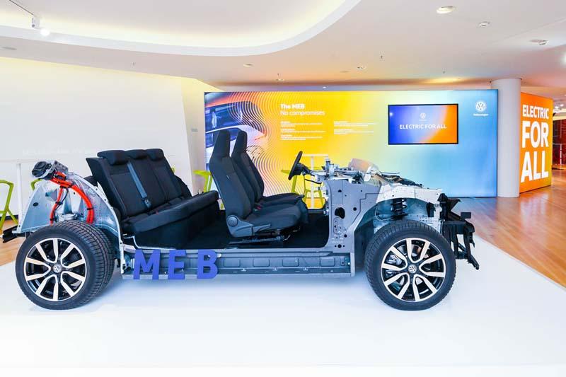 Plataforma MEB de Volkswagen, foto lateral