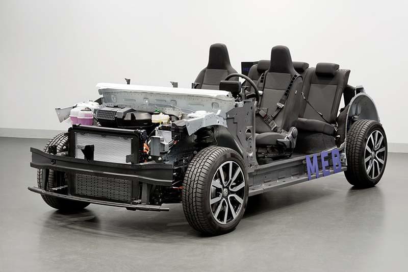 plataforma MEB de Volkswagen, foto delantera