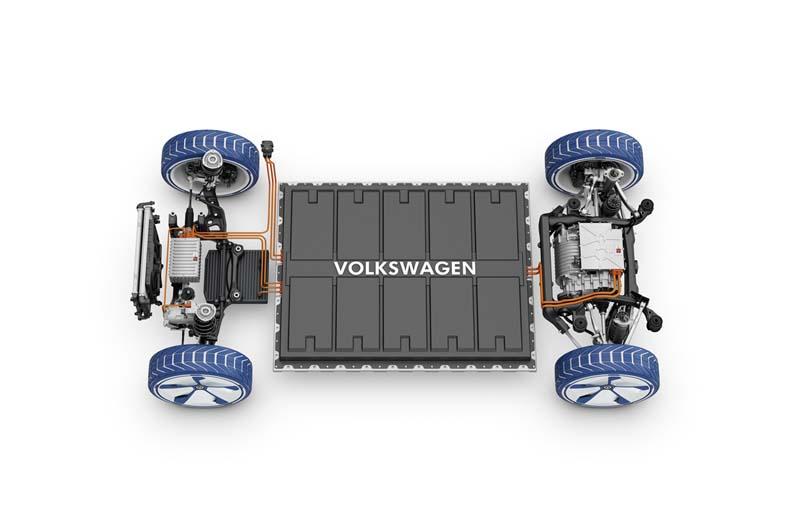 Plataforma MEB de Volkswagen, foto batería