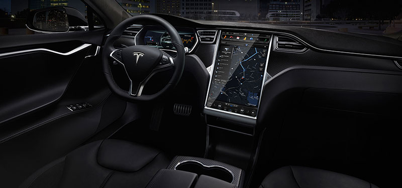 Salpicadero del modelo Tesla S