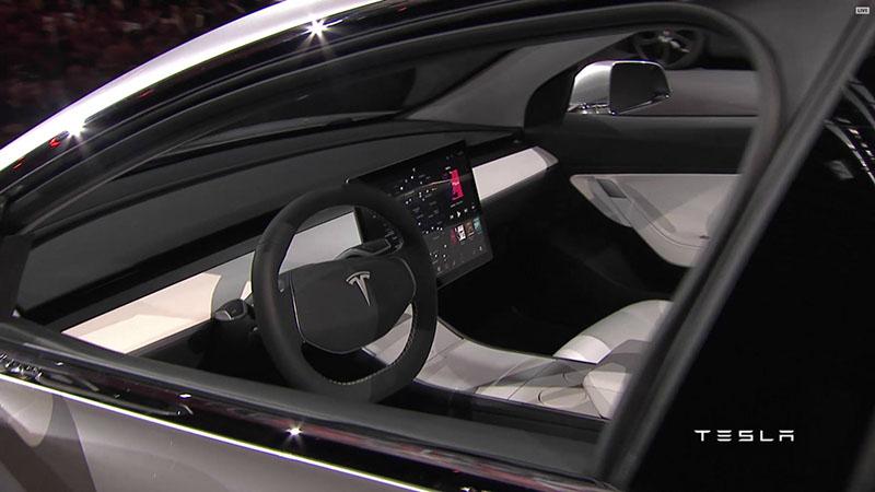 Foto Interiores Tesla Model 3 Sedan 2016