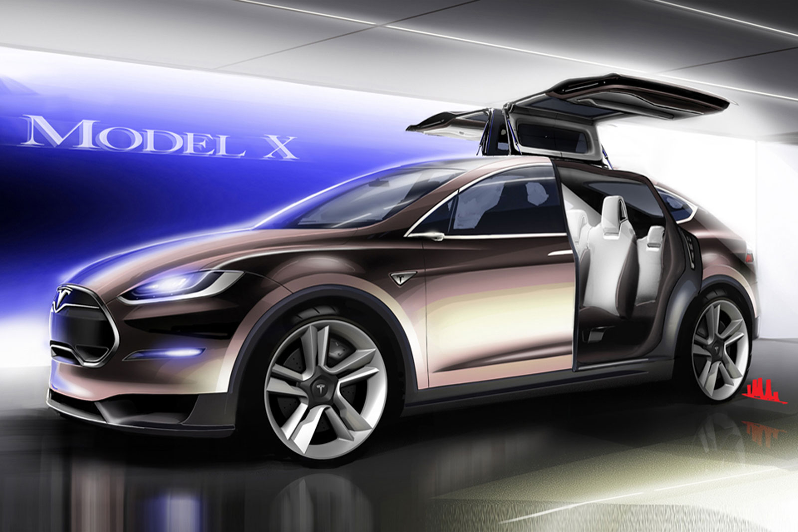foto tecnicas tesla model x suv todocamino 2012. Black Bedroom Furniture Sets. Home Design Ideas