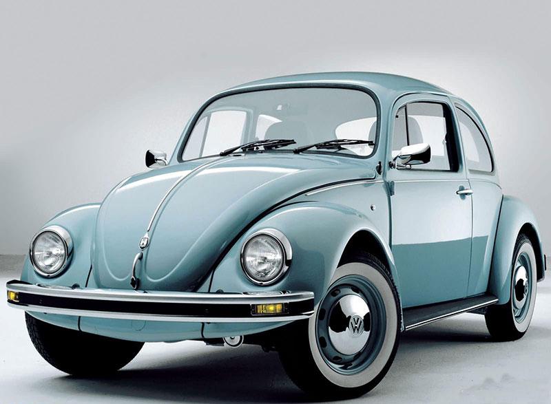 Foto Delantera Volkswagen Beetle Dos Volumenes 1960