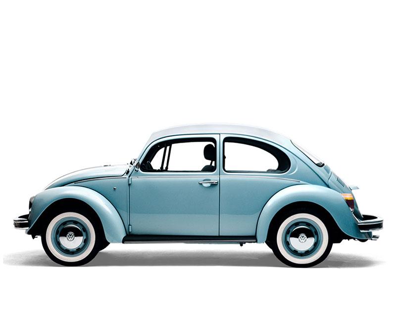 Foto Perfil Volkswagen Beetle Dos Volumenes 1960
