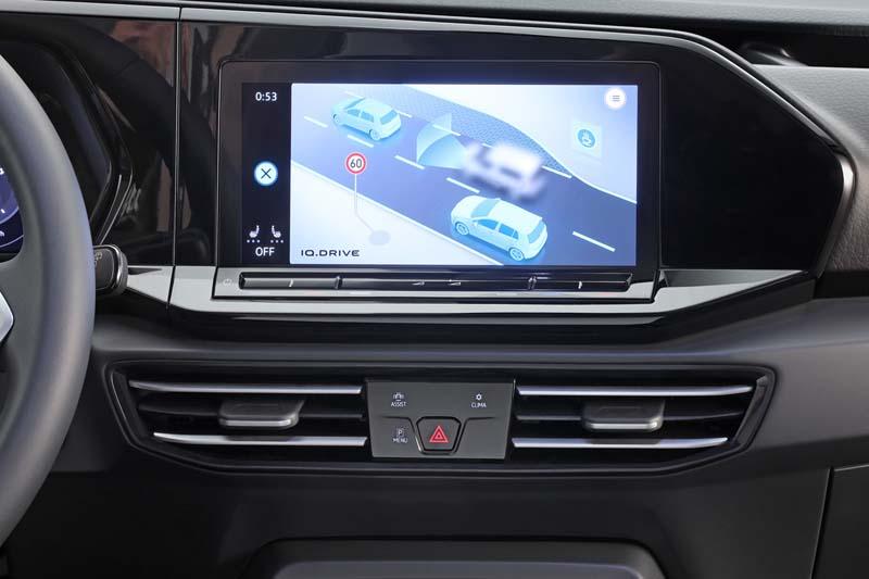 Volkswagen Caddy 2021, foto pantalla del salpicadero