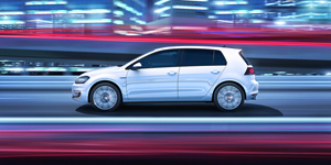 Foto Lateral Volkswagen Golf-gte Dos Volumenes 2014